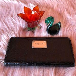 Michael Kors black patent leather wallet